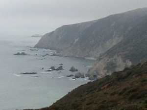 The headlands near the beginning of our hike
