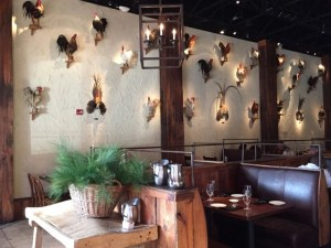 Rooster wall long shot