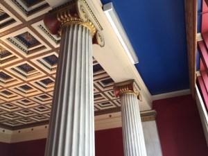 Greek ceiling pillars