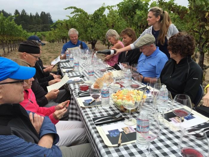 Dutton-Goldfield wine tasting