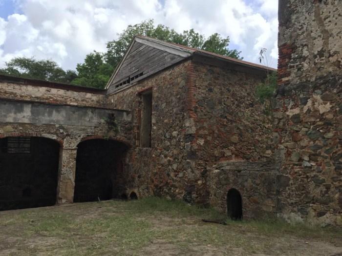 Reef Bay sugar mill ruins on St. John
