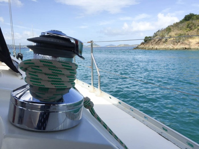 Sailing winch on Survival