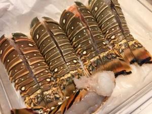 Personal chef Erin Hraster prepares Caribbean lobsters