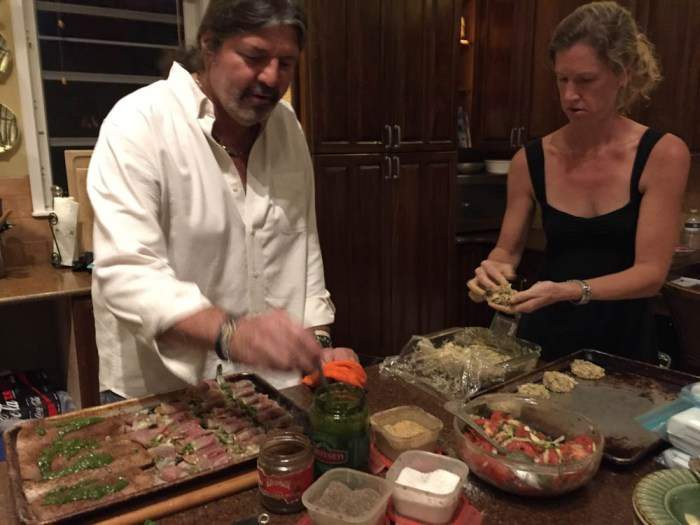 Personal chef Ted Robinson and Meredith