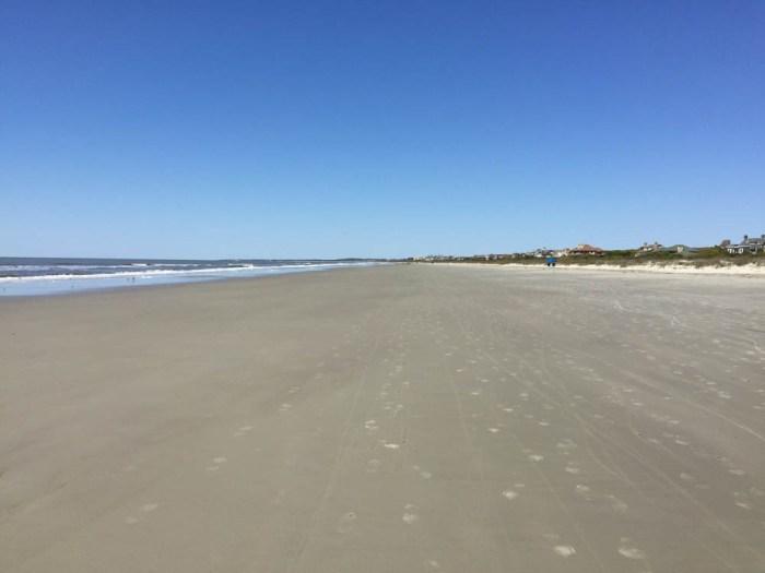 Wide Kiawah beach