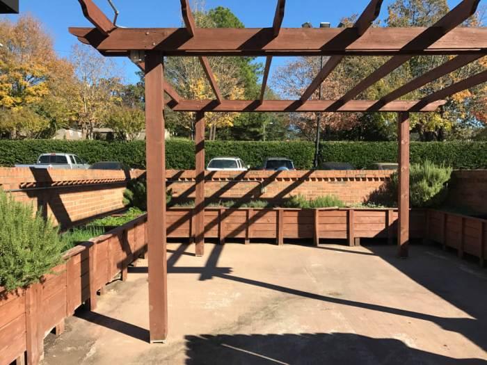 Barrington's herb garden