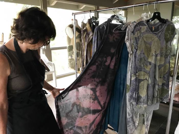 Monique Risch botanical printing textiles