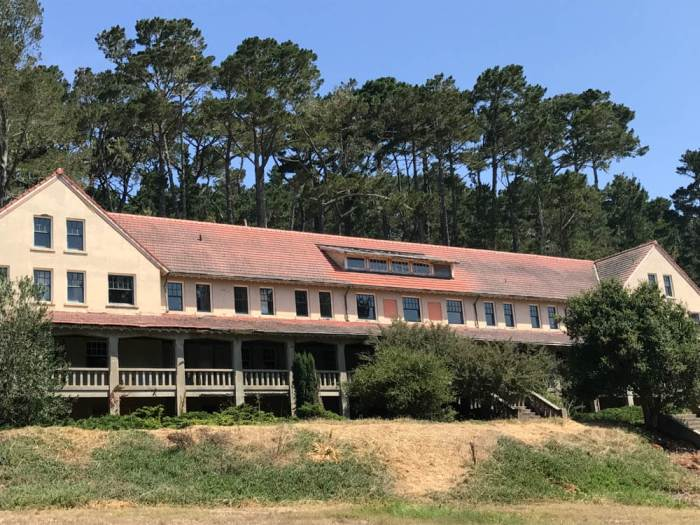 Old hotel at Marconi Historic State Park