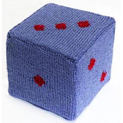 Dice knitting pattern