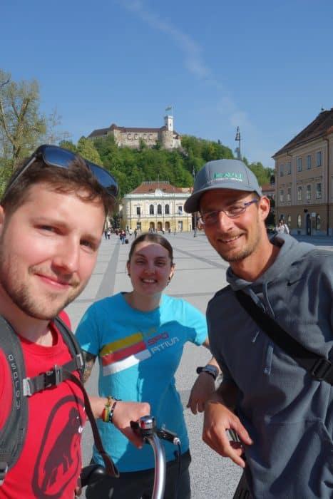 Touring the wonderfully green, friendly and alternative Ljubljana on a bike! Slovenia, watermelon bike tours, castle, alternative, off the beaten track, path, local guide, locals knowledge,