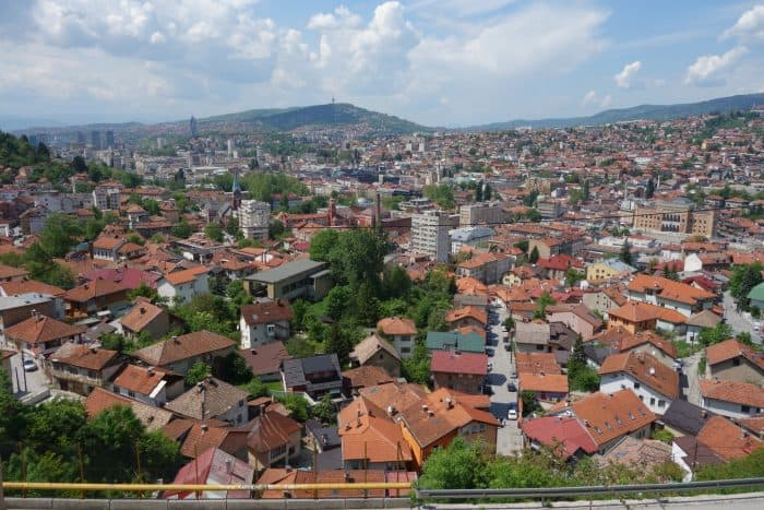 Guide to Sarajevo. The east meets west Bosnia capital that stole our hearts!, things to do in Sarajevo, Bosnia and Herzegovina, bobsleigh tracks, abandoned, urbex, city hall, franz ferdinand, tunnels, balkan war, balkans, bosnian war, Bazaar, Turkish Quarter, Bascarsija, Gazi Husrev-Beg's Bezistan, Sebilj Fountain, Srebrenica Genocide Exhibition, Gallery 11/07/95, Burek at Saç,
