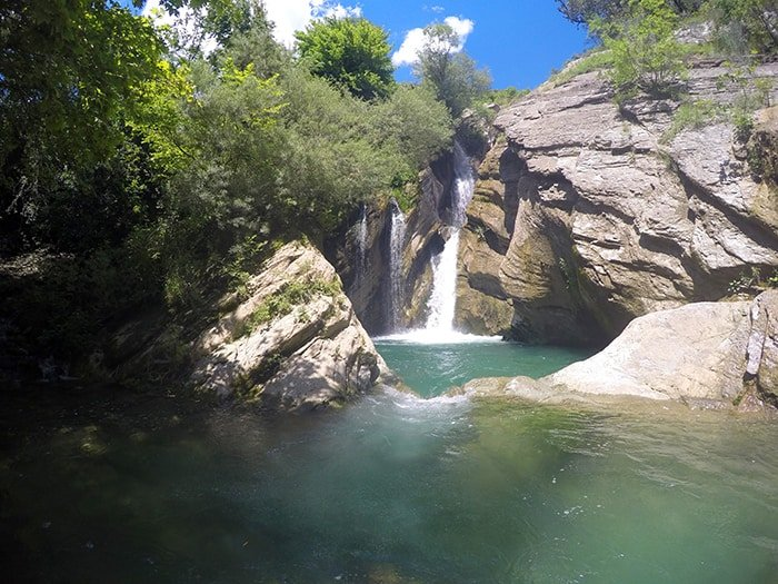 Hitchhiking to the tropical Bogove waterfall in rural Albania, a day of real adventure! (Plus: shorty skinny dipping!) how to get to Bogove waterfall, things to do in albania, off the beaten track, off the beaten path, berat, tropical, nature, landscape, hiking, adventure, explore, hitch hiking, transport, is it safe, skrappar, polican, furgon, rural, which bus,