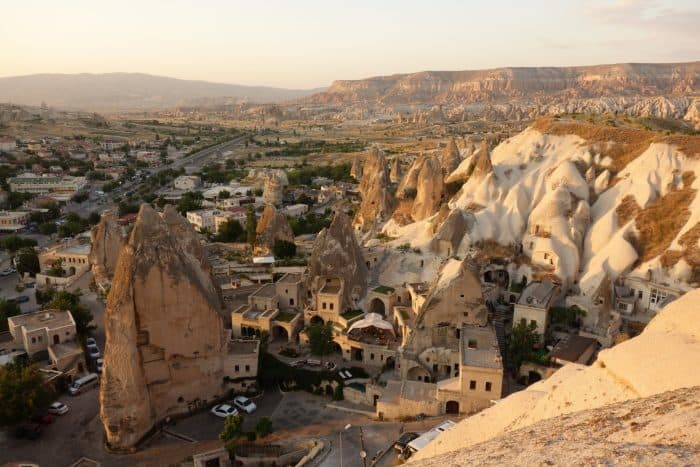 A guide to Cappadocia: The magical, dream like, out of this world landscape that we flew above, history, asia, Europe, things to do, top things to see, what to do, where to go, turkey, turkiye, adventure, explore, romance of travel, bucket list, Fethiye, Goreme, Nevsehir, how to get to cappadocia, bus, flight, plane, Kayseri, Byzantine, Uchisar, Balloon Ride, fairy chimneys, Rose Valley, Cavusin villages, Pigeon Valley, Mount Erciyes, Uchisar castle, Derinkuyu, underground city, Ihlara Valley, desert, Melendiz river, Ağaçaltı cave church, Selime Monastery, things to do in Cappadocia, where to go in cappadocia,