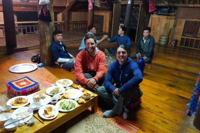 Staying with a local tribal family in a bamboo house in Yen Bai, Vietnam. A true off the beaten track adventure made possible by our motorbikes, yen bai, Thác Bà Lake, Vu Linh, rice wine, tribe, local, off the beaten track, off the beaten path, authentic, real, travel, home stay, family, happy water, tet, vietnam new year, homestay in vietnam, bao yen bai, motorbike through vietnam, motorbike tour vietnam,
