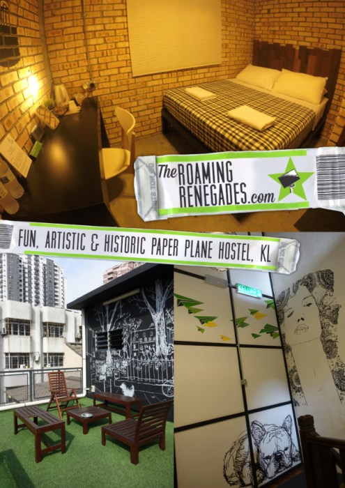 Paper Plane hostel, KL: A 100 year old converted building with a modern and artistic spirit