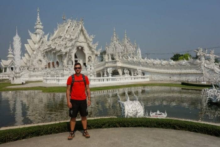 Chiang Rai White Temple, Exploring the strange world of the White Temple, Chiang Rai: This beautiful and weird work of art, artist, buddhist, buddhism, installation, sculpture, gallery, Spiderman, superman, predator, George Bush, Twin Towers, Chalermchai Kositpipat, Wat Rong Khun, temple, The White Temple, How to get to Wat Rong Khun from Chiang Rai, How to get to The white temple from Chiang Rai, Chiang Mai, Bus, Laos, Mekong, slow boat, terminator, hellraiser, freddie Krugger, Batman, Deadpool