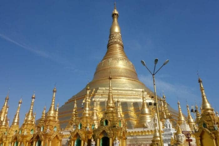 Strolling around the awe inspiring Shwedagon pagoda, Yangon, Myanmar, Burma, shwedagon paya, Bagan, Inle, Buddhism, monk, What to wear at the Shwedagon pagoda, cost, Burma tours,