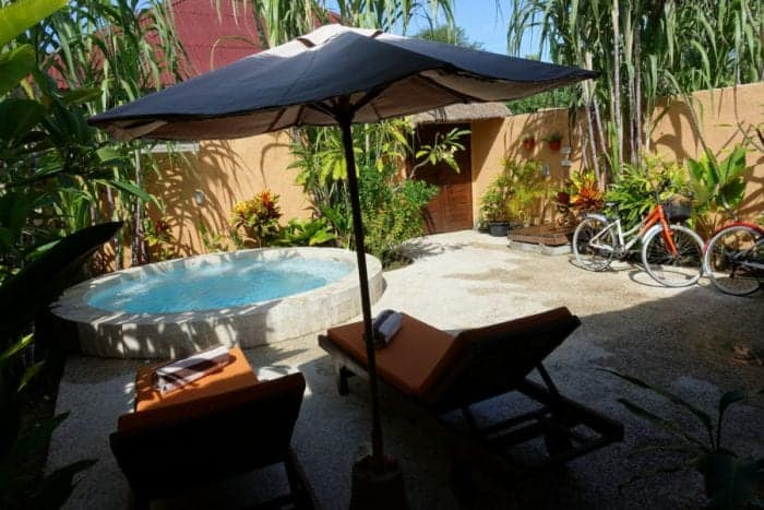 The paradise resort of Santan Gili Cottages on the tiny Indonesian island of Gili Trawangan, Gili Air, Gili Meno, how to get to the Gili islands, turtle, snorkel, SCUBA, bikes, Bali, Lombok, Indonesia, Backpacking, hippy, cottages, best accomodation,