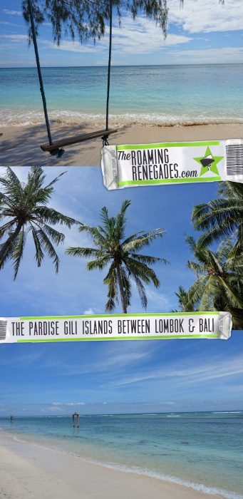 The unbelievable paradise Gili islands between Lombok and Bali where you can swim with turtles! Indonesia! > https://theroamingrenegades.com/2017/11/gili-islands-indonesia-lombok-bali.html
