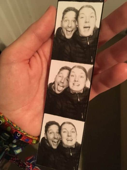 Photoautomaten selfie, Photo booth, Berlin, black and white, film,