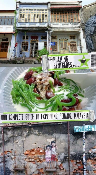 Penang Itinerary: What to do in Penang in 3 days. A Guide to this Beautiful & Historic Town in Malaysia > https://theroamingrenegades.com/2019/04/penang-itinerary-what-to-do-in-penang-in-3-days-malaysia.html | #travel #Penang #Malaysia #Georgetown #SouthEastAsia #Architecture #StreetArt