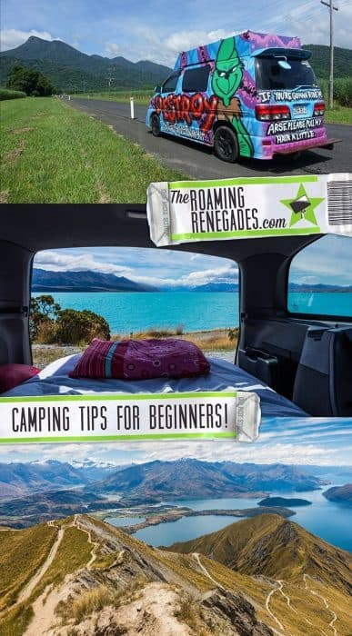 Camping Tips for Beginners, camping for beginners, glamping in Spain, France, Portugal, New Zealand, Australia, camper van, RV, camping for dummies, renting a camper van in Australia, camping with kids, camping advice,