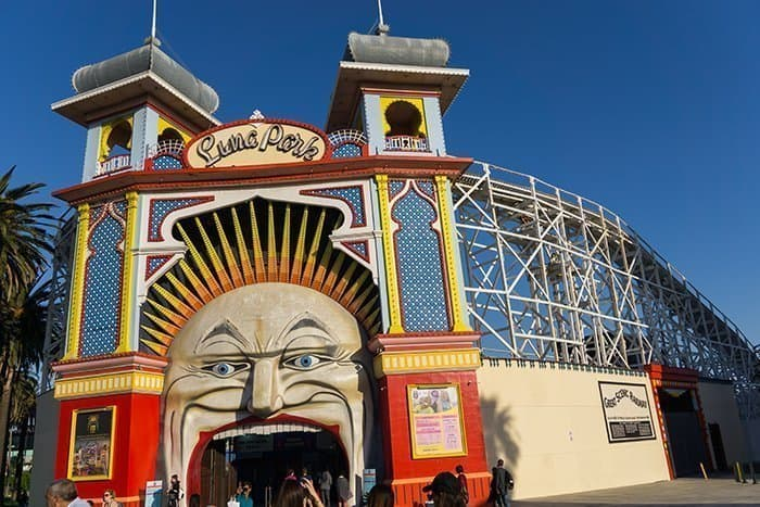 Melbourne 5 day itinerary: best places to visit in Melbourne. Luna amusement park in St Kilda.
