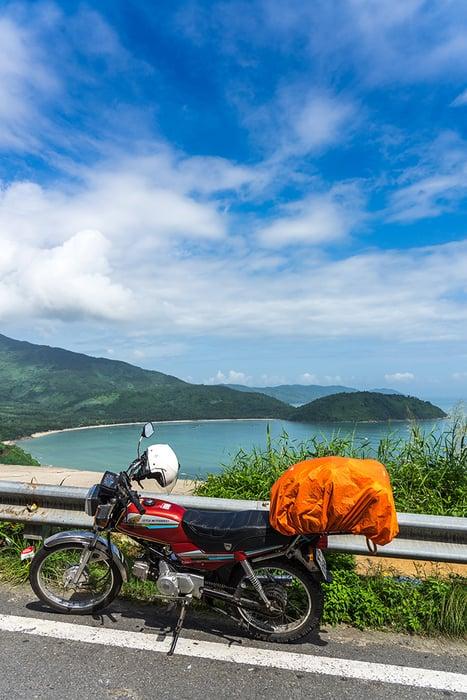 A motorbike on the Hai Van Pass. 3 weeks in Vietnam, Vietnam itinerary: 3 weeks, 3 week Vietnam itinerary