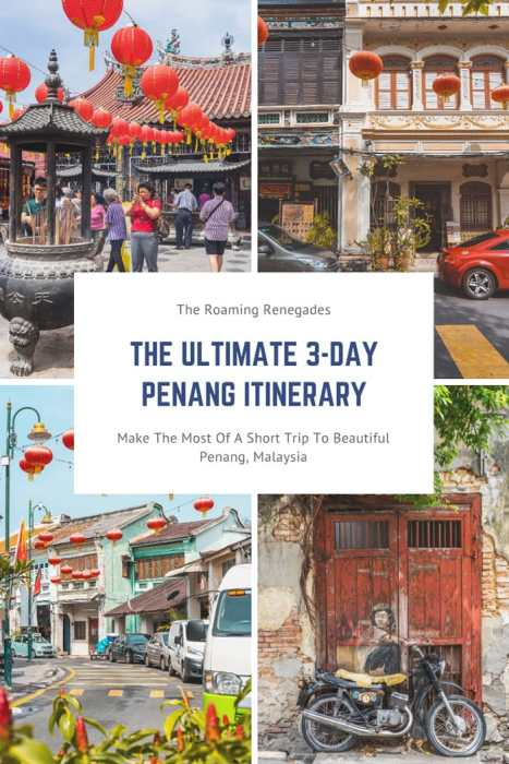 Penang Itinerary: What to do in Penang in 3 days: Georgetown Malaysia guide.