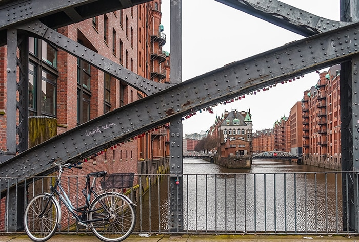 The canals of the Speicherstadt Quarter, largest warehouse area in the world (One day in Hamburg, Hamburg in one day, 1 day in Hamburg, 24 hours Hamburg, Hamburg itinerary, things to do in Hamburg, weekend in Hamburg)