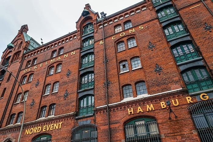 One of the red brick hamburg warehouses. (One day in Hamburg, Hamburg in one day, 1 day in Hamburg, 24 hours Hamburg, Hamburg itinerary, things to do in Hamburg, weekend in Hamburg)