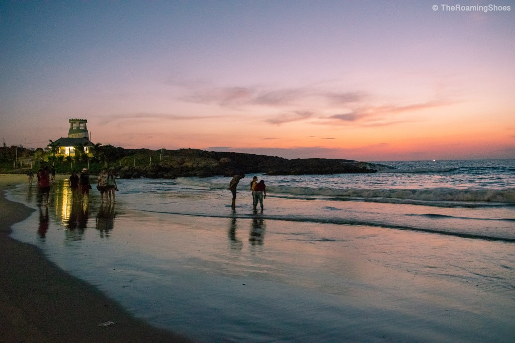 Post sunset scene at Hawa beach