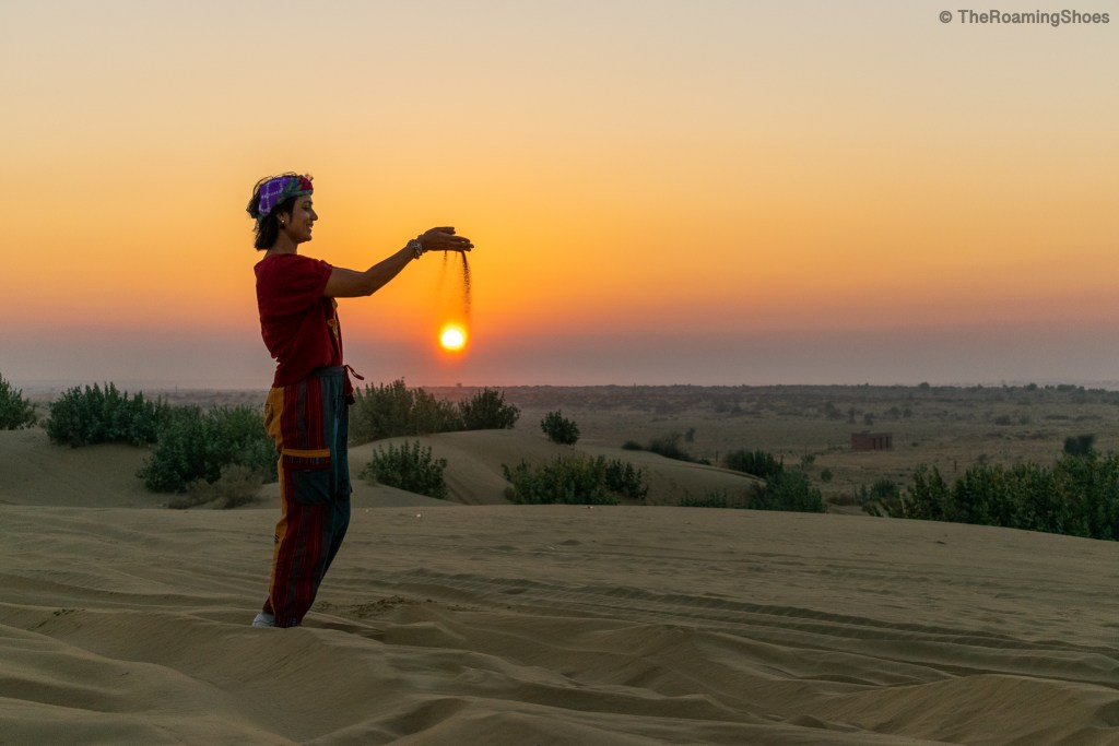 Sunset at Jaisalmer desert