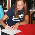 Cave Spring's  Lauren Bosche signs with Liberty.