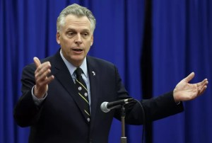 DIGGING IT: Gov. Terry McAuliffe announced his support for a trans-Virginia gas pipeline on Tuesday.