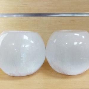 Selenite Candle Holders Polished