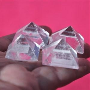 Clear Quartz Pyramids Mini