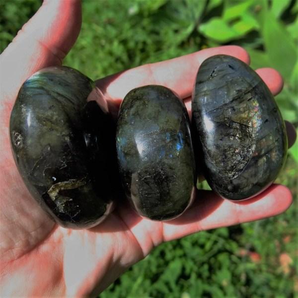 Madagascan Labradorite Palm Stones