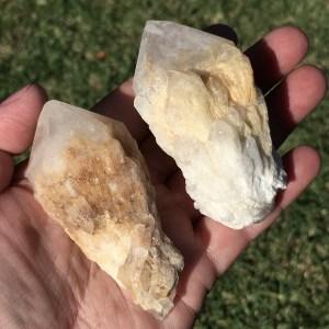candle quartz points