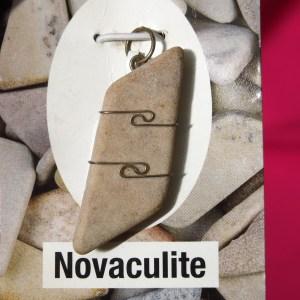 buy Novaculite Pendant in Silver