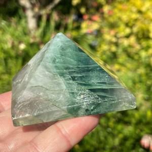 green Fluorite Pyramid