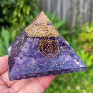 Amethyst Orgon Pyramid