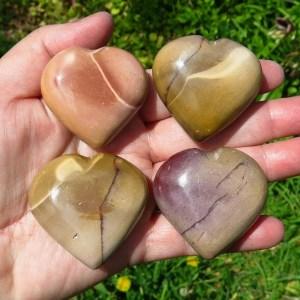 mookaite hearts