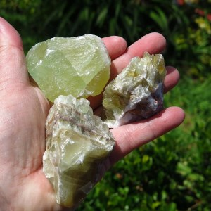 green calcite roughs