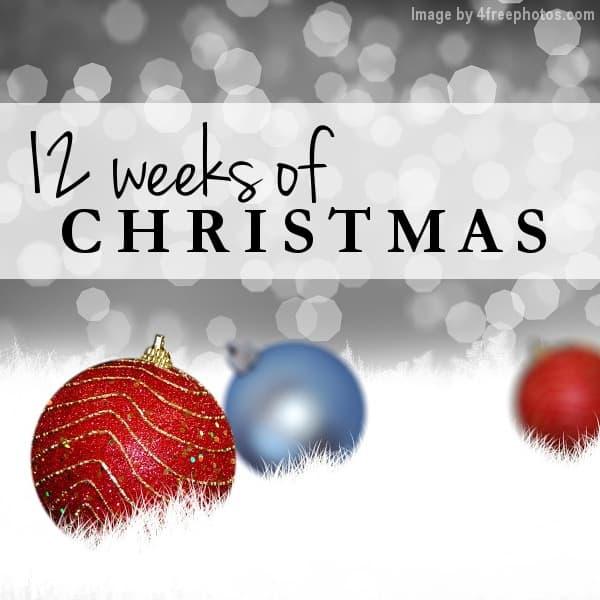 12 weeks of christmas 2017