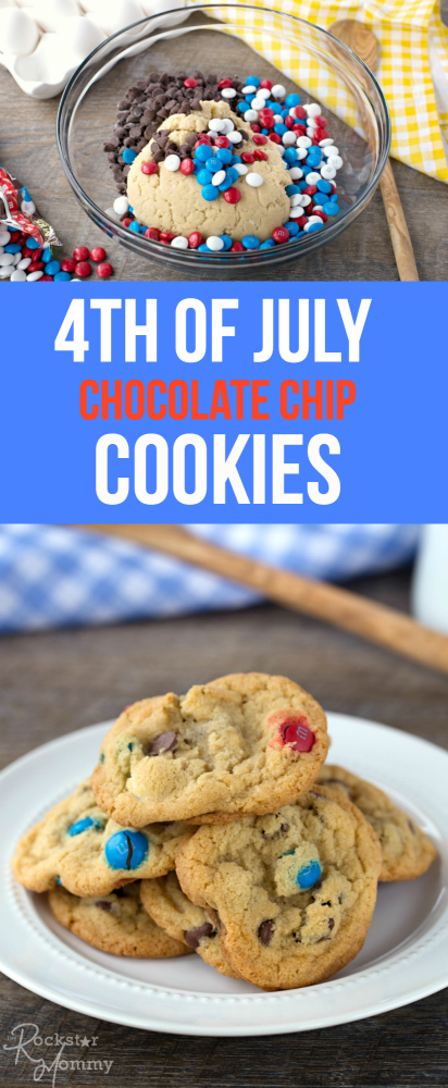 4th of July Chocolate Chip Cookies Recipe - The Rockstar Mommy