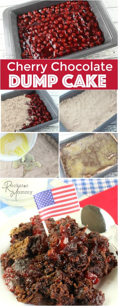 Cherry Chocolate Dump Cake - The Rockstar Mommy Recipe
