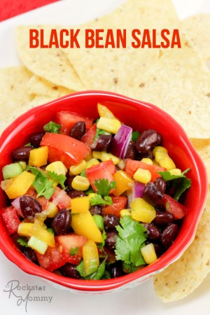 Summer Black Bean Salsa Recipe - The Rockstar Mommy