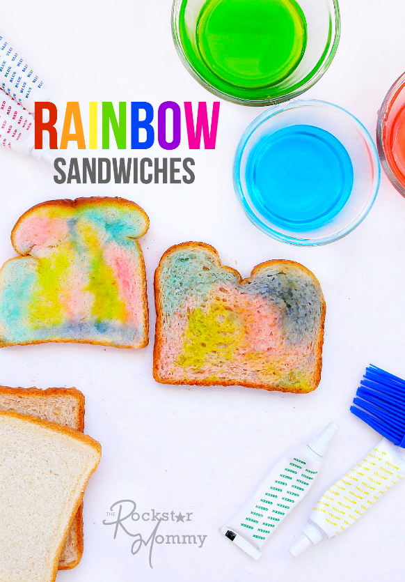 Rainbow Sandwiches - The Rockstar Mommy