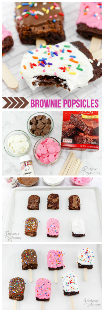 Brownie Popsicles Recipe --- The Rockstar Mommy